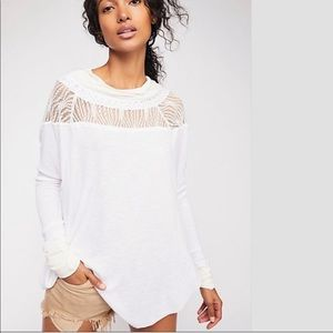 Free People Spring Valley Long Sleeve Top XS